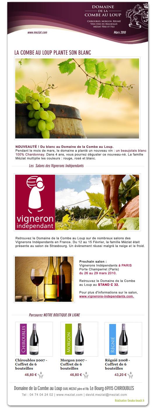 Newsletter Mars 2010