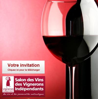 Votre invitation pour le Salon des Vignerons Indépendants à Lille