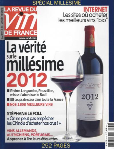 Le Chiroubles 2012 cité dans la revue des Vins de France !